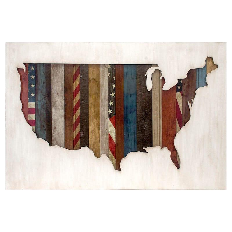 24X36 Flag Wood Box Cutout