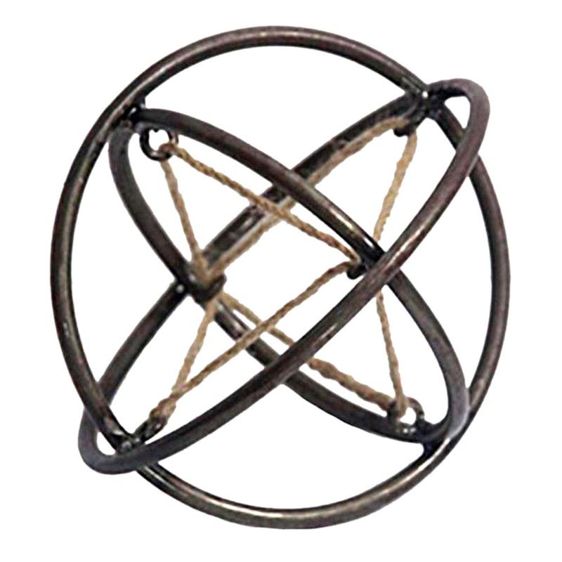 6in. Metal Rustic Cutout Jute Orb