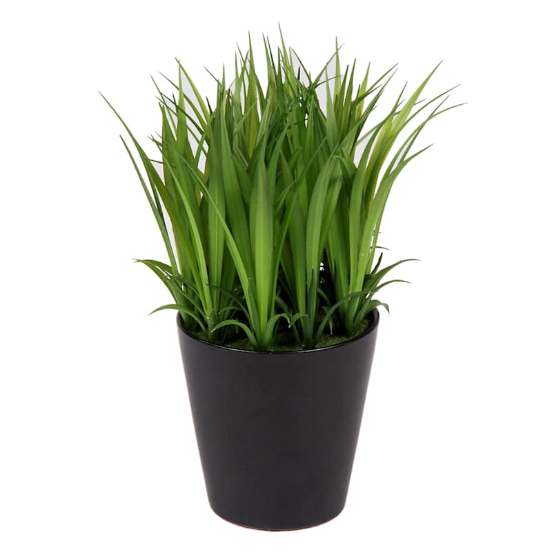 9in. Grass Ceramic Pot