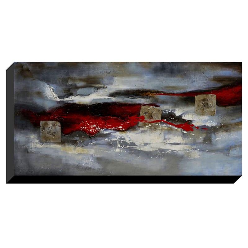 28X60 Red Streak Enhanced Canvas