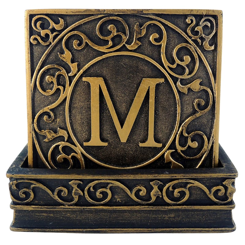 Distressed Monogrammed Coasters