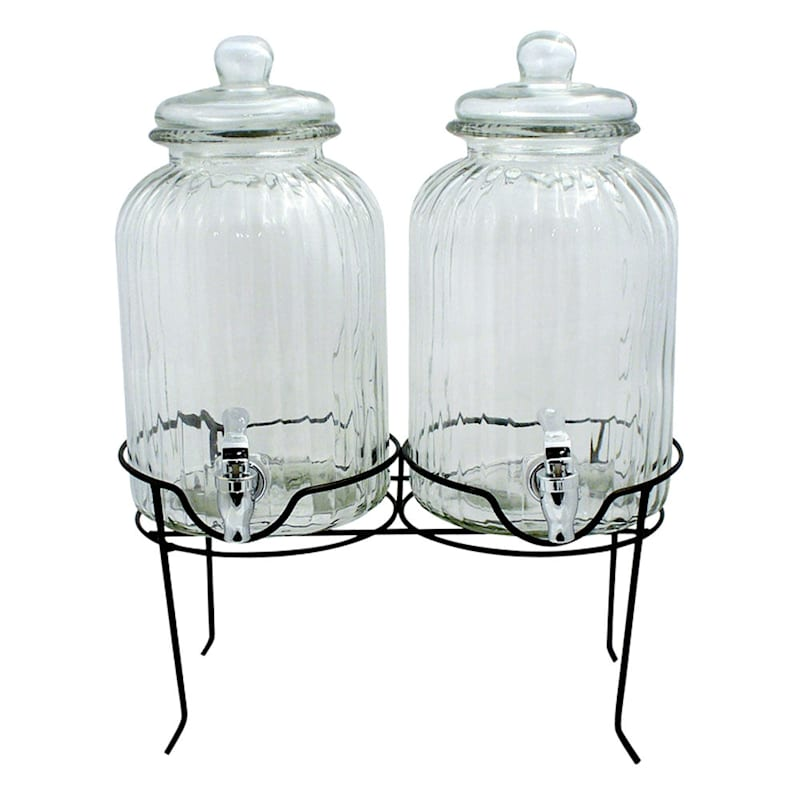 Double 1 Gallon Drink Dispenser