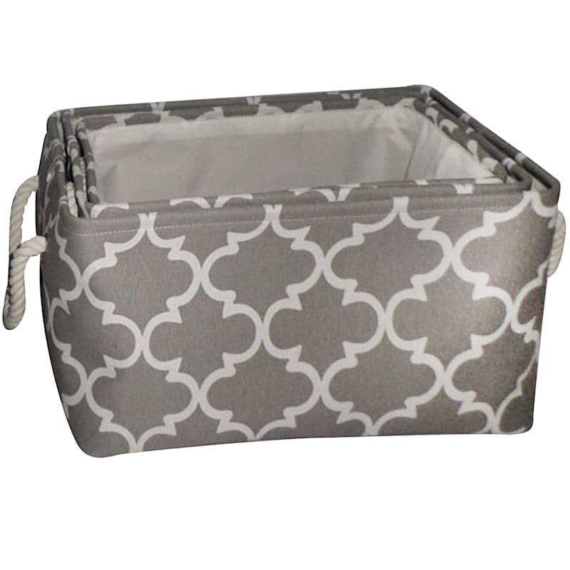 Grey Fabric Basket