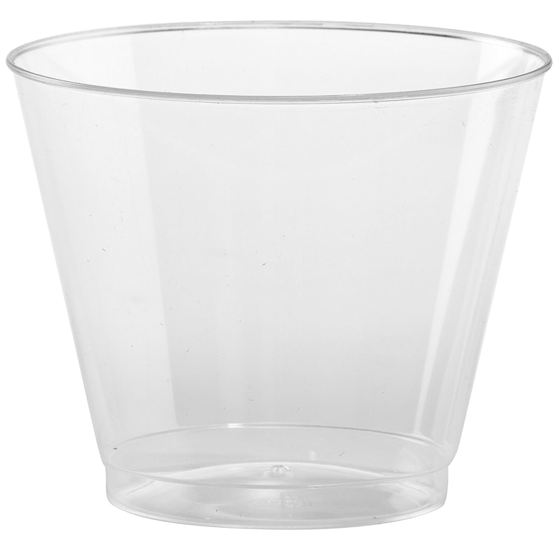 Clear 9oz Old Fashioned Plastic Tumbler Hanna K. Signature