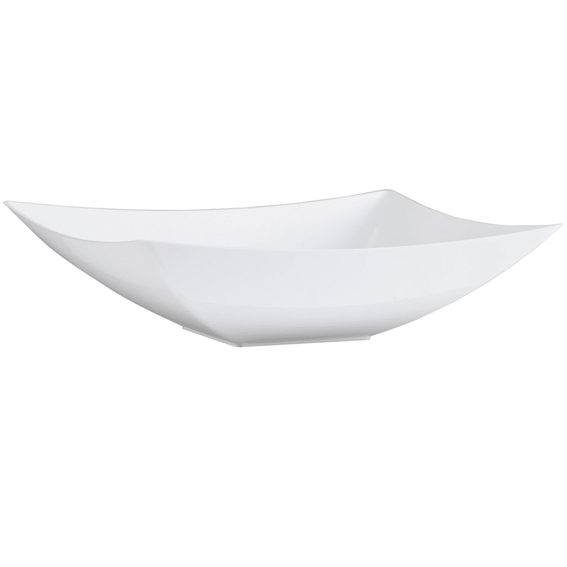 Pearl 64oz Rectangle Plastic Bowls Lillian Table Settings