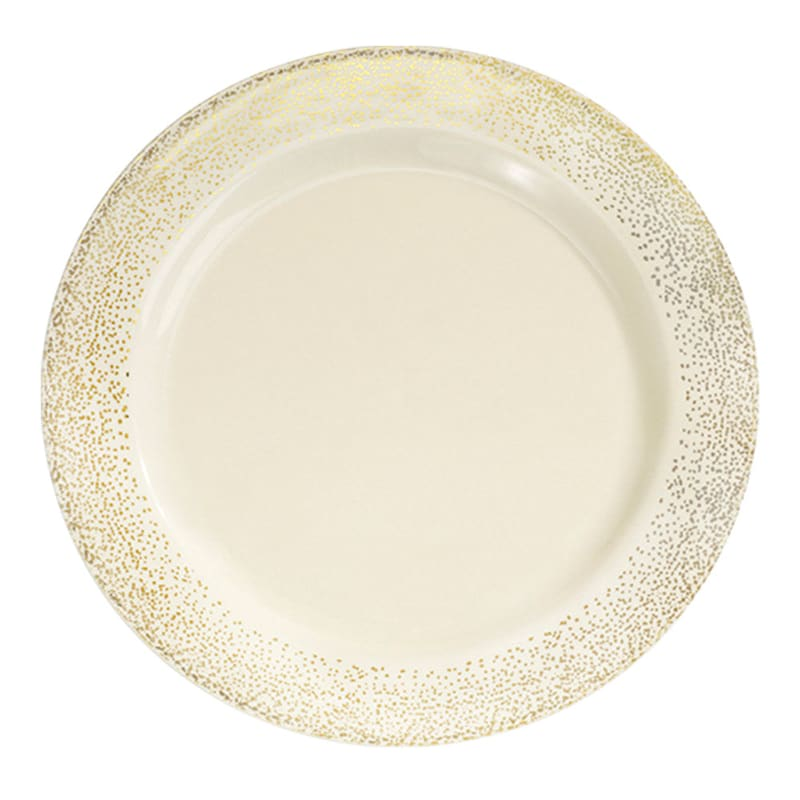 Set Of 10 Gold Dinner Plates