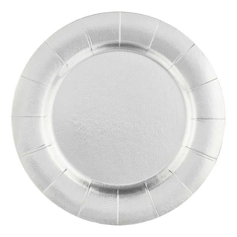Set Of 10 Silver Charger Plates