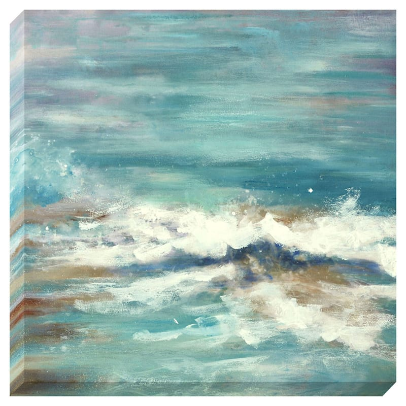16X16 Ocean Waves Enhanced Canvas