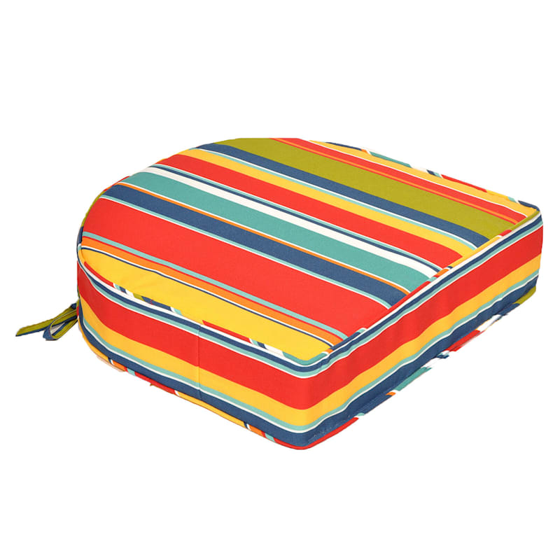 Macrae Garden Outdoor Curve Back Seat Cushion