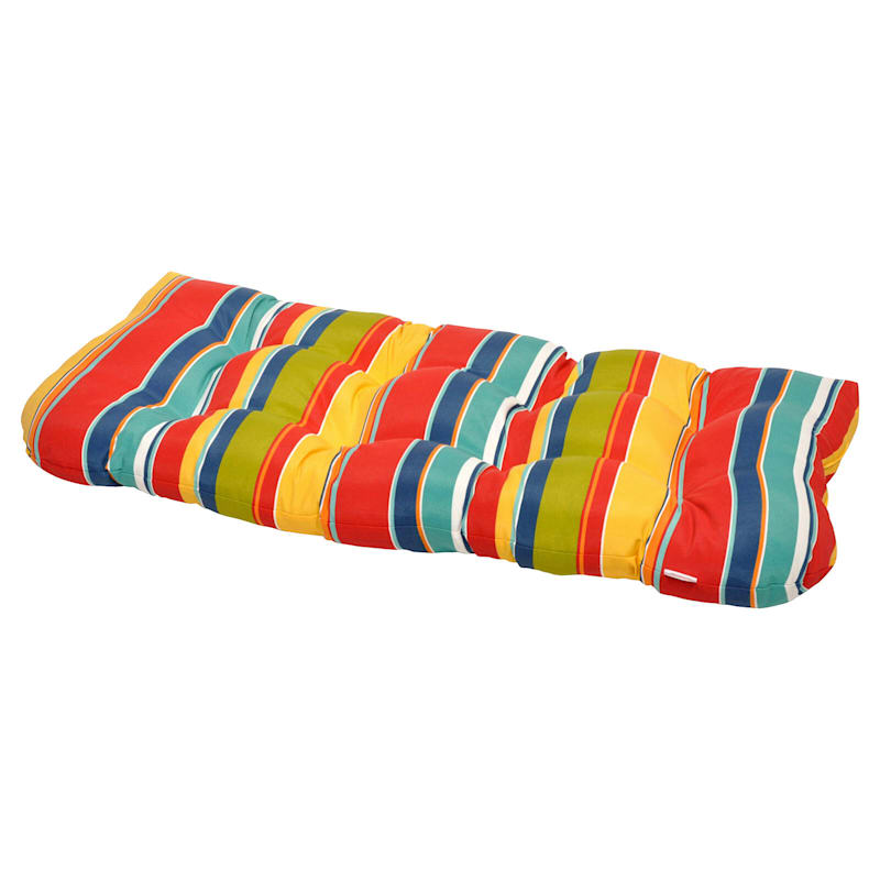 Macrae Garden Outdoor Wicker Settee Cushion