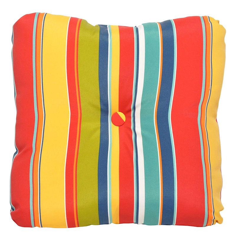 Macrae Garden Outdoor Tufted Back Cushion