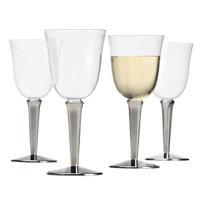 Baroque Wine Glasses, Set of 10