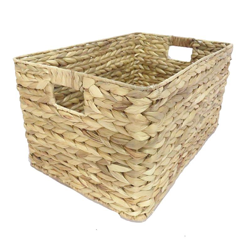 Water Hyacinth Rectangle Basket L