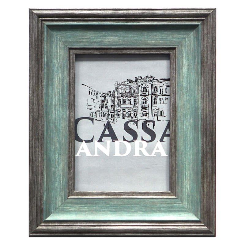 5X7 Cassandra Turquoise/Grey Tabletop Frame