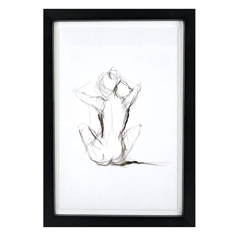 23X33 Figure Study Framed/Glass Art