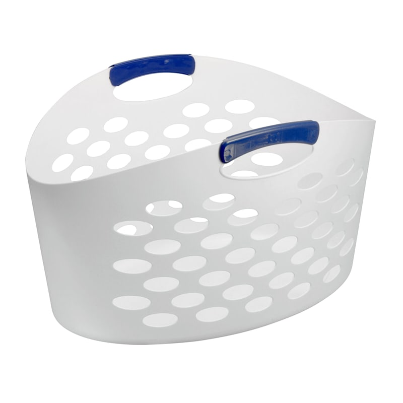 Tall Flex Laundry Basket White