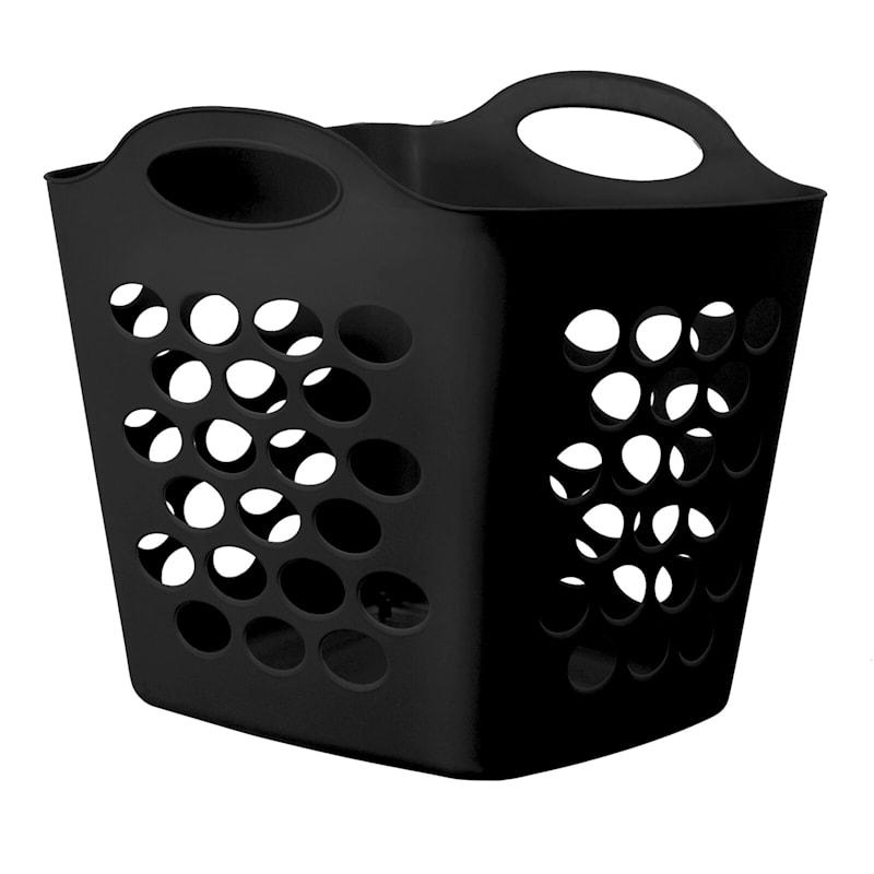 Tall Flex Laundry Basket Black