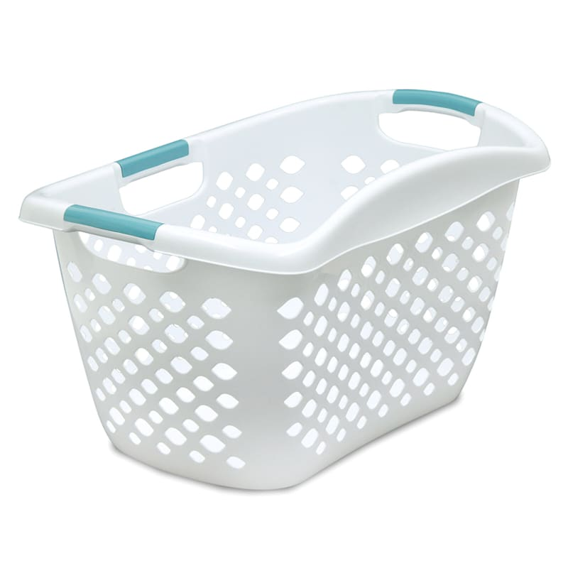 Home Logic 1.75 Bu. Hip Grip Laundry Basket White