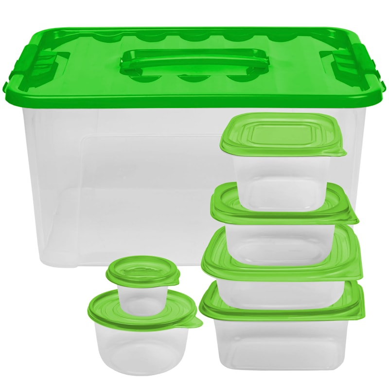 54 Piece Storage Set with Green Lid