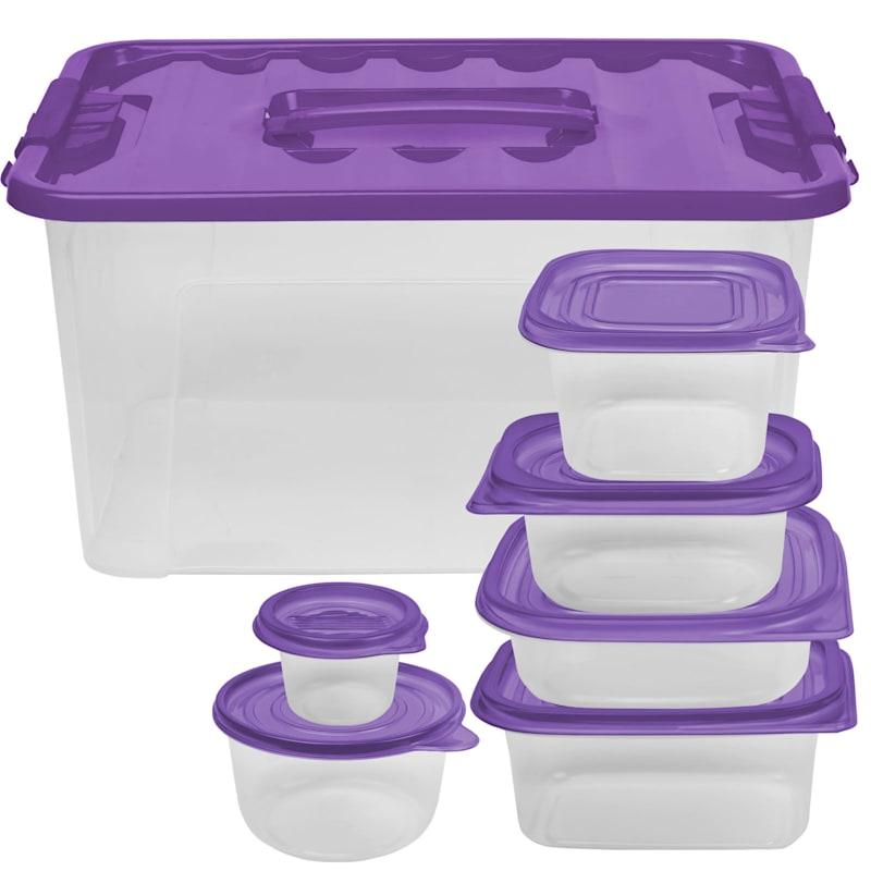 54 Piece Storage Set with Purple Lid