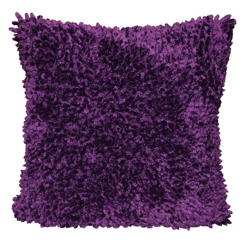 Winslow Purple Textured Pillow 18X18