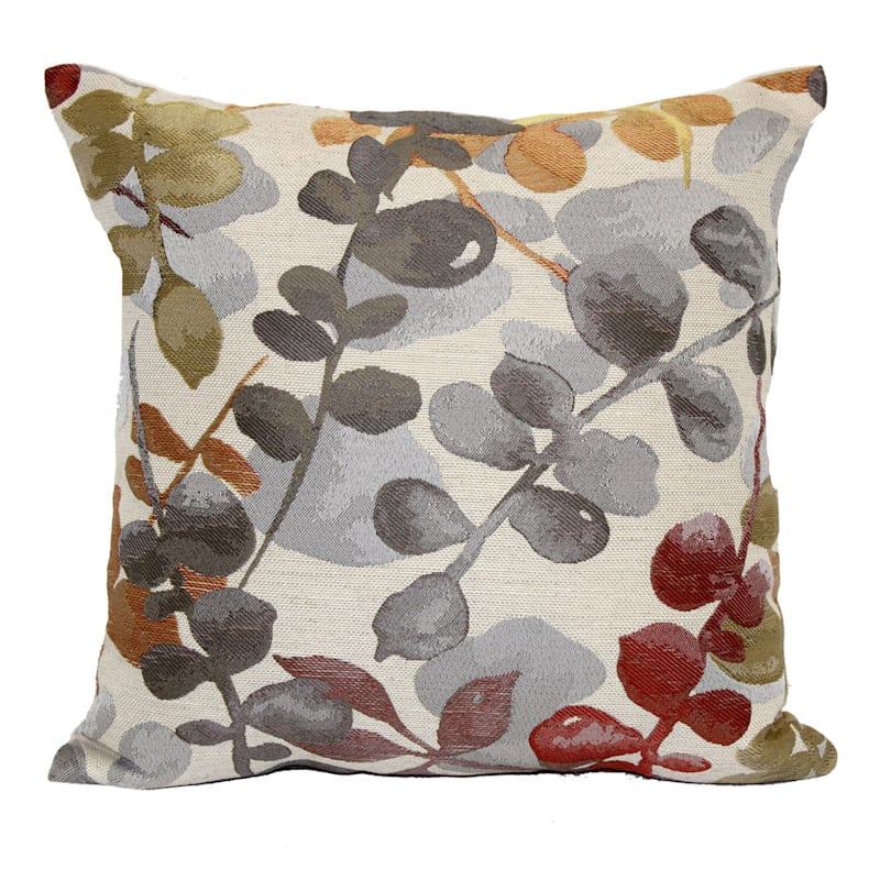 Woodlawn Multicolor Jacqurd Pillow 18X18