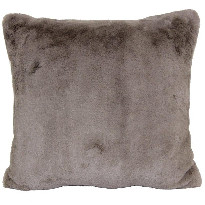 Bristol Taupe Faux Fur Oversized Pillow 24X24