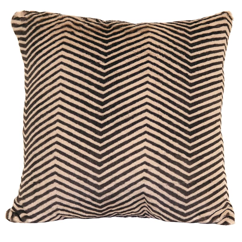 Specialty Zebra Faux Fur Pillow 20X20