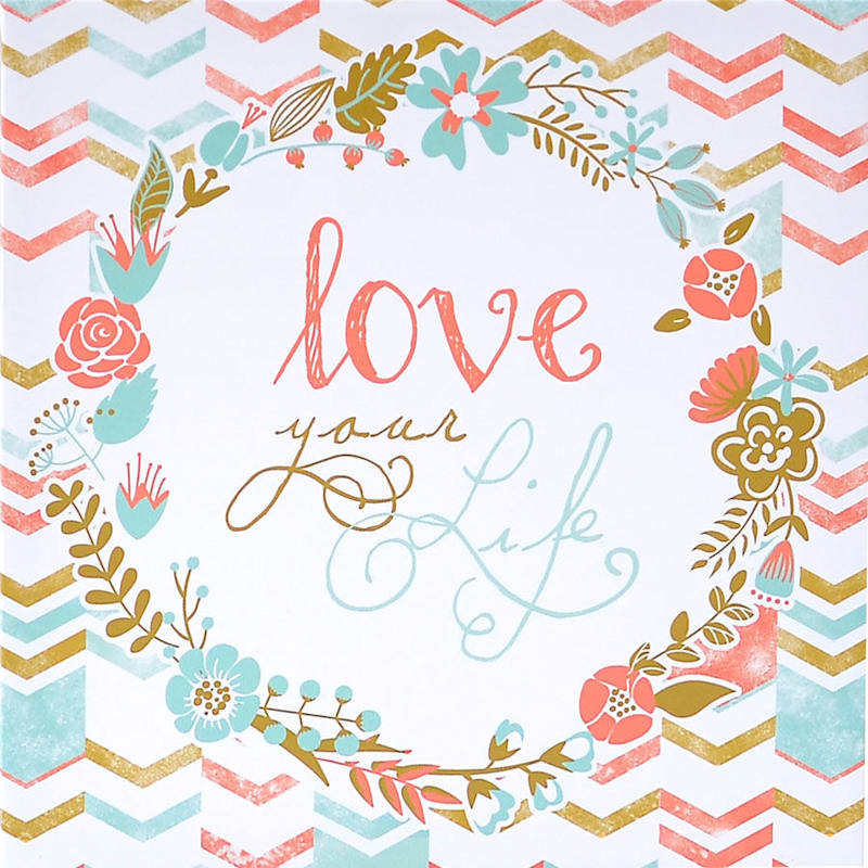 12X12 Love Your Life Textured Canvas Art