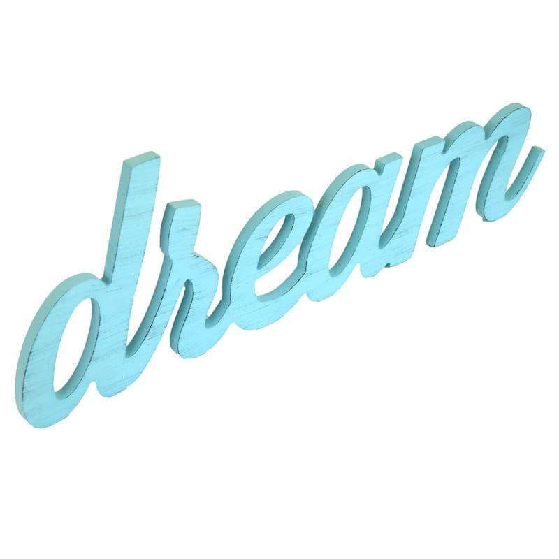 6.25In.X18In. Dream Word Wood Wall Art