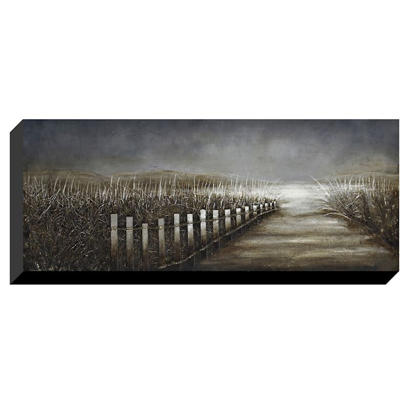 24X60 Coastal Path Enhanced Canvas