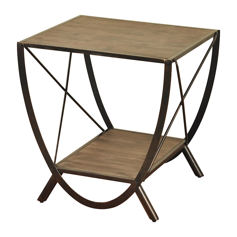 Santa Monica Wooden Side Table