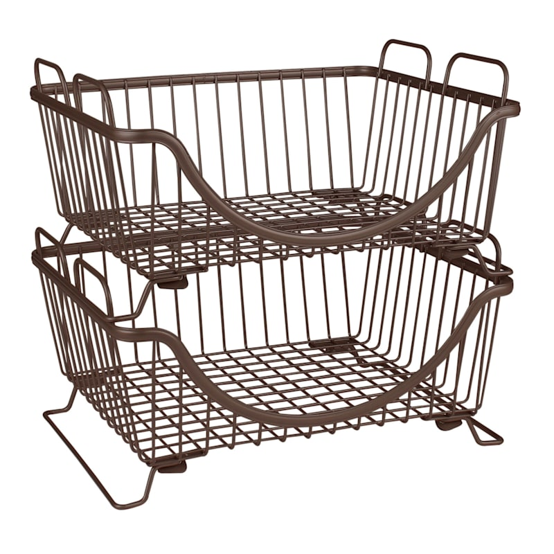 Ashley Stacking Basket Tray Bronze