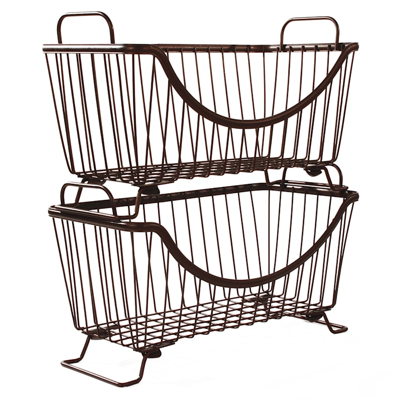 Ashley Stack Basket Small Bronze