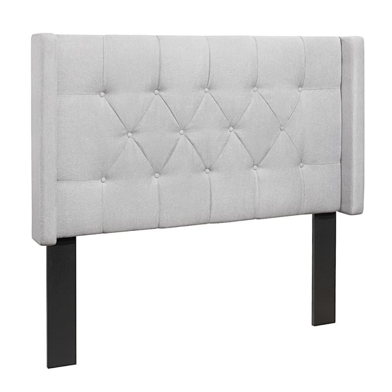 Hilton Tufted Linen Full/Queen Light Grey Headboard
