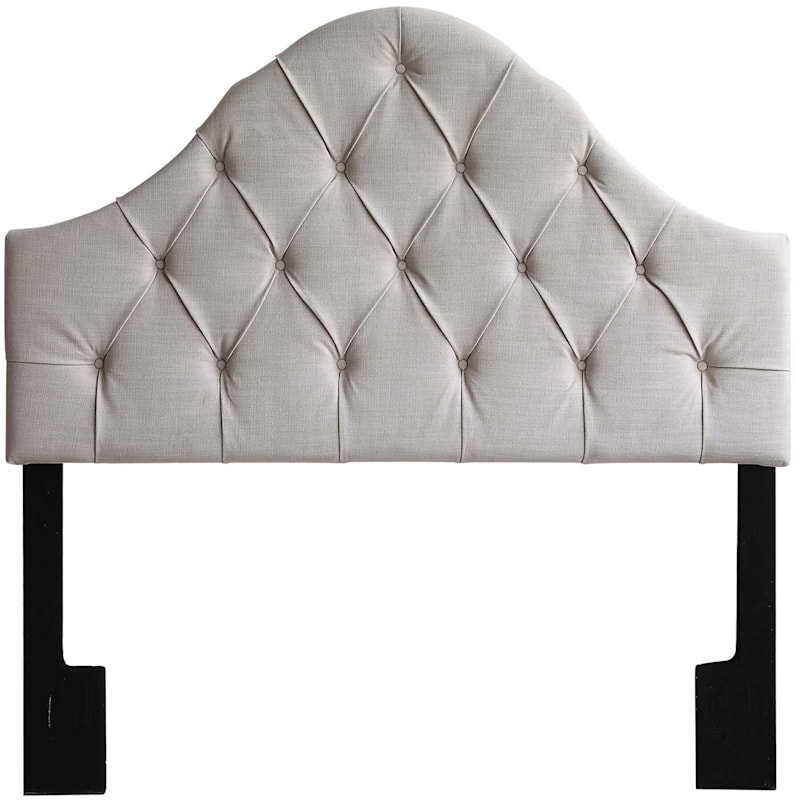 Tuxedo Full/Queen Headboard, Natural (Ivory)