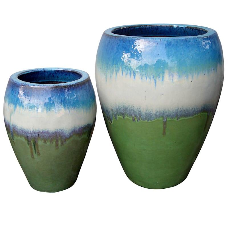 Arcadia Urn Ceramic Planter 24in. Tri