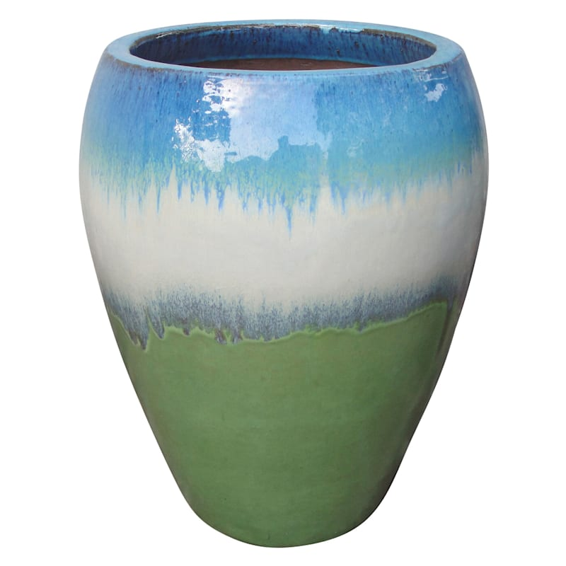 Arcadia Urn Ceramic Planter 16.9in. Tri