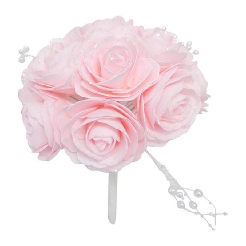 6in. Floral Kissing Ball Pink