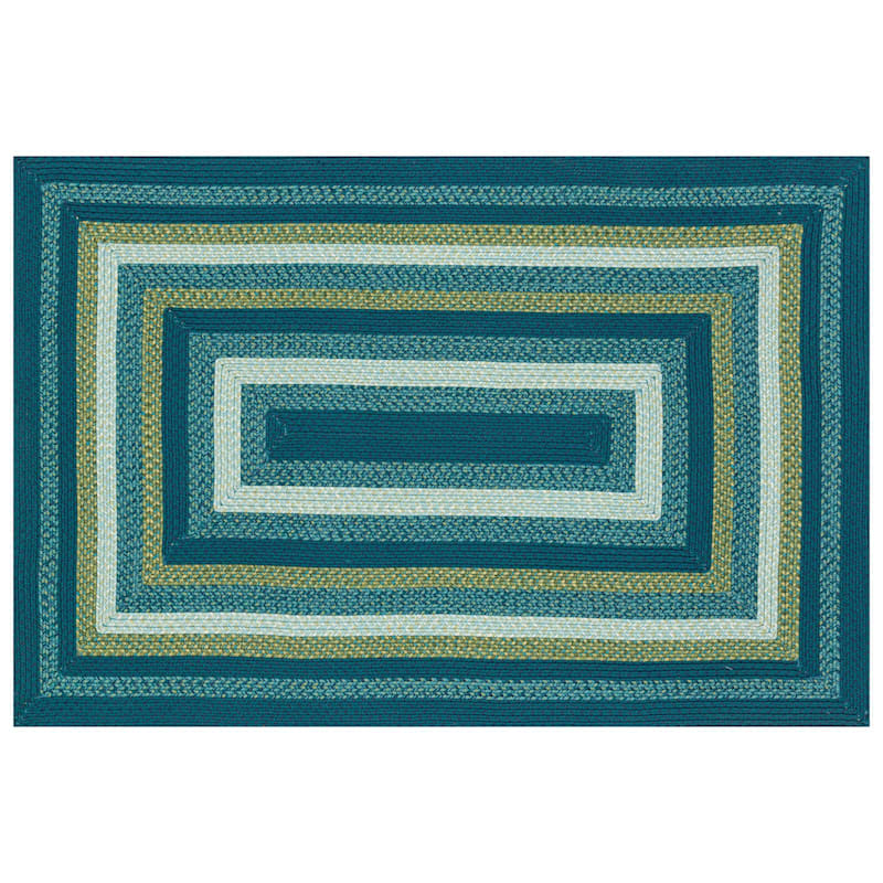 E133 Blue Braid Rug- 8x10 ft