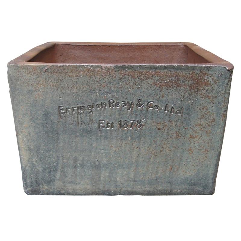 Errington Reay Square Trough Ceramic Planter 19.7in. Stone