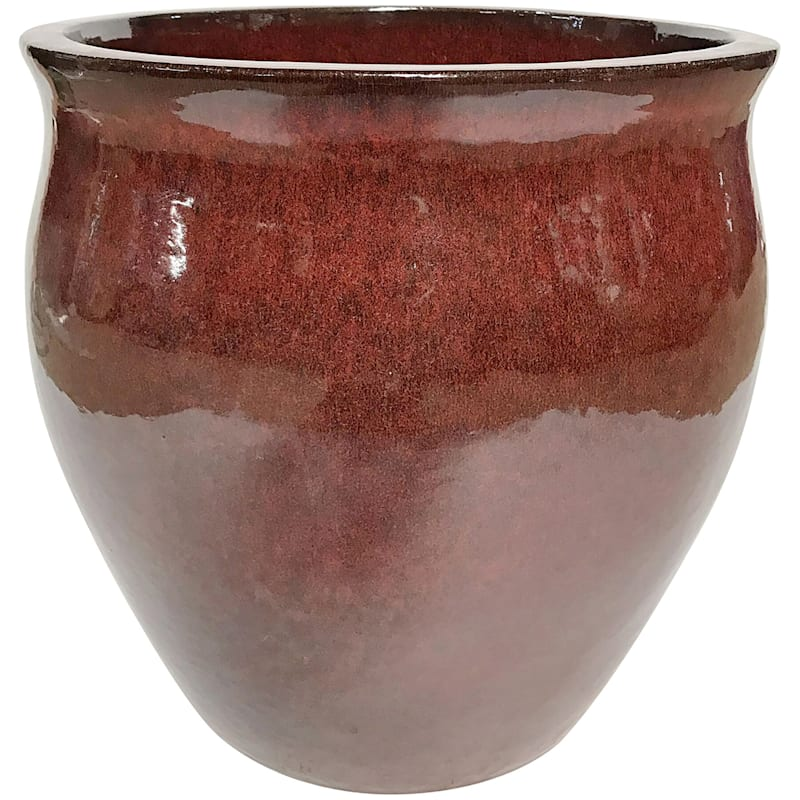 9.4 IN. FLARE PLANTER BL RED