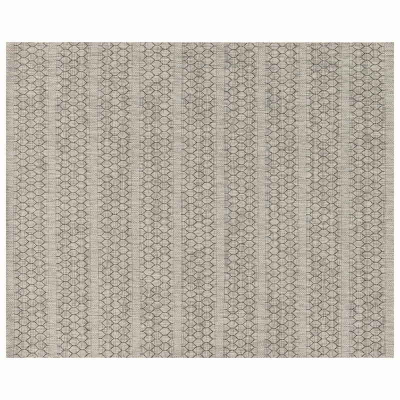 (E131) Oasis Textured Grey Area Rug, 8x10