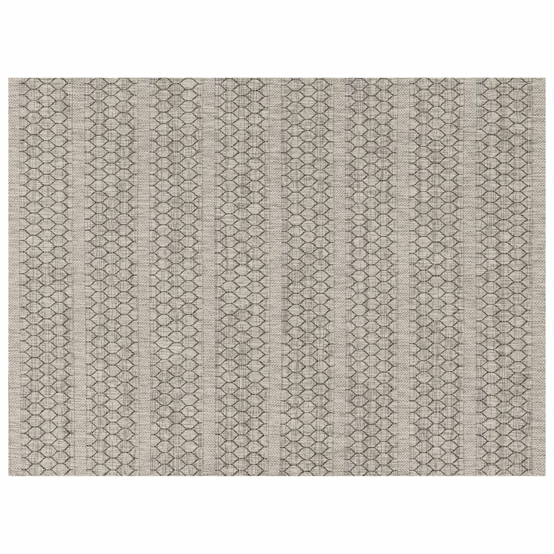 (E131) Oasis Textured Grey Area Rug, 5x7