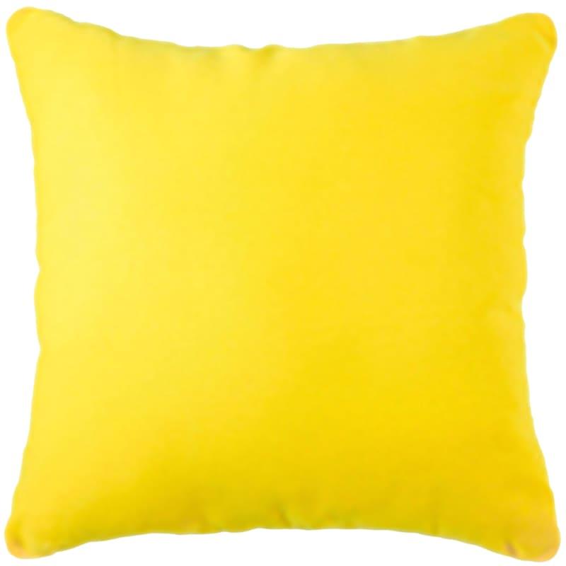 "Duck Cloth Self-Corded Throw Pillow, 25"" x 25"", Lemon Yellow"