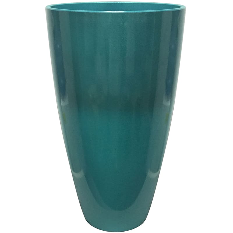 12in. Resin Evelyn Planter Turquoise
