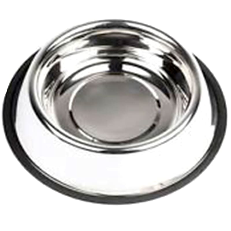 32oz Stainless Steel Non Skid Pet Bowl With Rubber Base