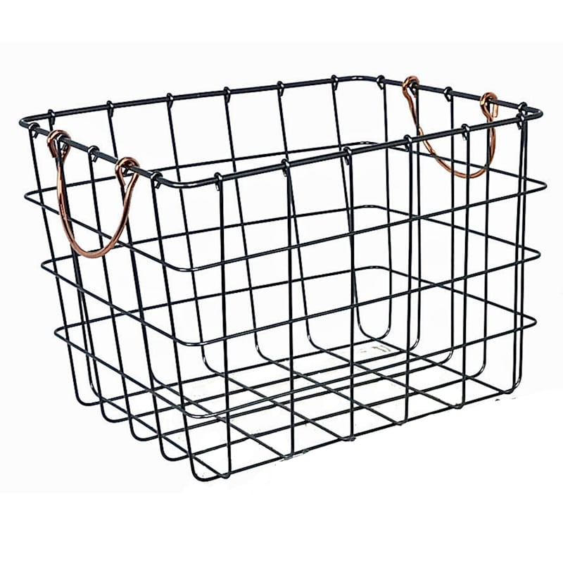 Bronze Metal Wall Basket