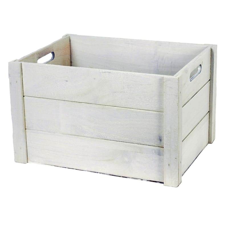 Wood White Wash Rectangle L