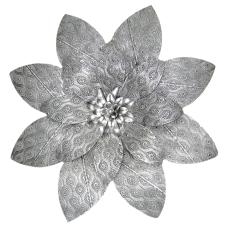 27IN ROUND METAL FLOWER